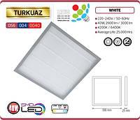 Светодиодный LED светильник TURKUAZ 40W 595x595мм