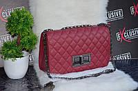 Стильная сумка  в стиле Шанель. Бордовая.