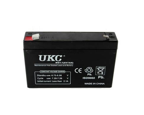 Аккумулятор батарея UKC WST-7 6V 7Ah, фото 2