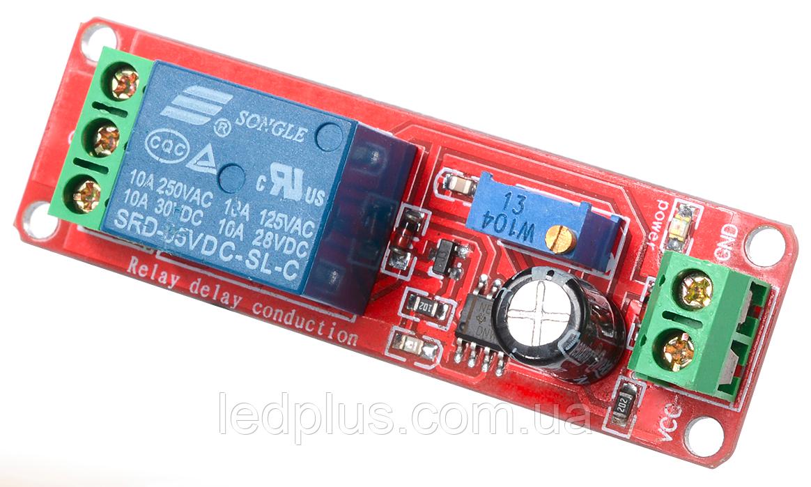 Модуль реле с задержкой включения 12В (220В 10А)