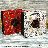 Продажа кратно 12 шт! Подарочный пакет с фольгированием 8821288-13 (20*20*8 см)