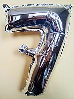 """Фольгированные шары цифры """"7"""" 16"""" (40 см) Серебро Balloons"""