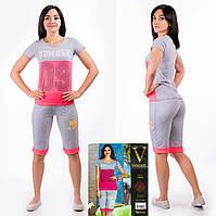 Женский комплект футболка+капри Турция. VOGUE 10090-R. Размер 44-46.