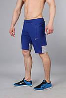 Мужские трикотажные шорты  Найк  синий электрик