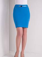 Женская юбка до колена цвета светлый Электрик 50