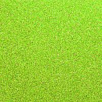 Фоамиран с глиттером 2 мм, 20x30 см, Китай, САЛАТОВЫЙ