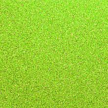 Фоамиран з глітером 2 мм, 20x30 см, Китай, САЛАТОВИЙ
