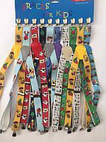 Подтяжки детские мультики для мальчиков и девочек (разные мультики в палете) на опт
