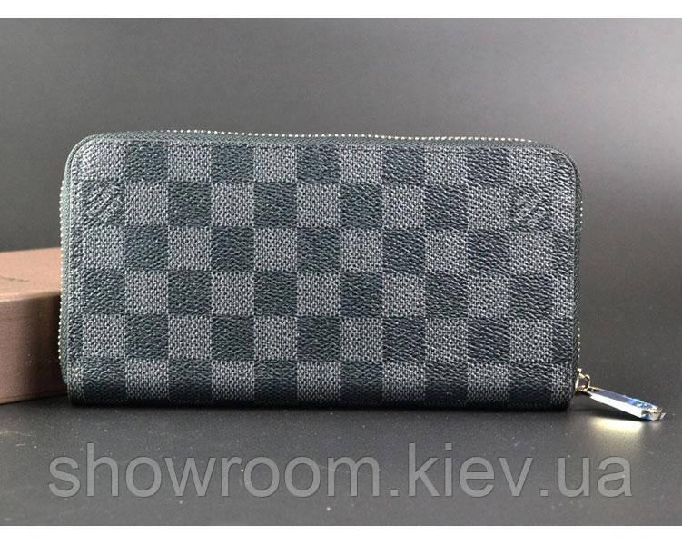 Мужской кошелек в стиле Louis Vuitton (60017) grey