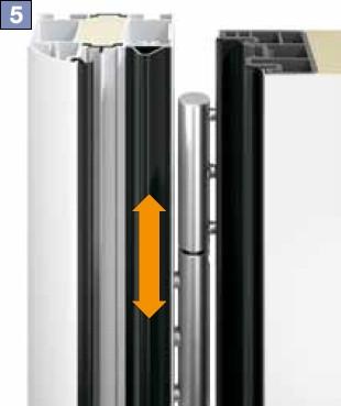 Дверь защищена от подваживания предохранительной планкой