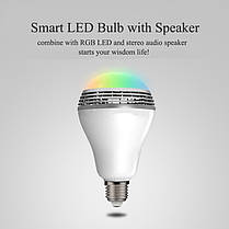 Smart LED Lamp умная лампочка Bluetooth MP3 YY-001, фото 2