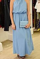 Женское платье нарядное синее