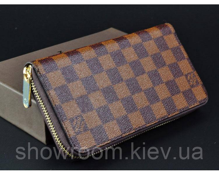 Мужской кошелек в стиле Louis Vuitton (60017) brown