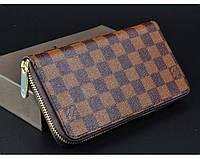 Мужской кошелек в стиле Louis Vuitton (60017) brown, фото 1
