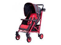 Прогулочная коляска  Sonata Caretero - Польша - удобный механизм складывания Красный