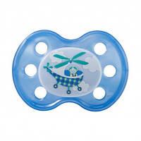 Пустышка ортодонтическая из силикона №1 с рисунком, без кольца (без упаковки) BABY-NOVA 3962372