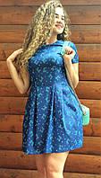 Платье летнее из стрейч-котона с карманами П164