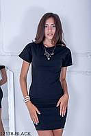 Жіноче літнє чорне плаття-міні York