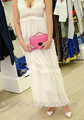 Женское платье летнее длинное  белое брендовое Италия , фото 2