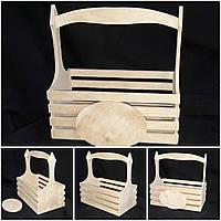 Ящик деревянный для декора,  28х28х16 см., 190/160 (цена за 1 шт. + 30 гр.)