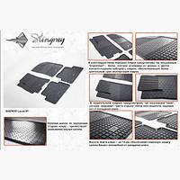Резиновые коврики для автомобиля Daewoo Lanos (4шт)
