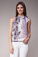 Блуза женская GIOIA с бантом сиреневая