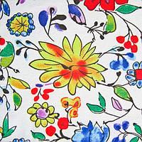 Ткань блузочная принтованная «Маркет» (P5672 дизайн 72), фото 1
