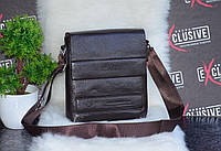 Стильная сумка коричневая через плечо., фото 1