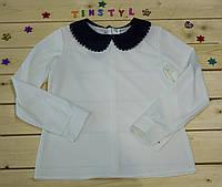 Нарядная блузка с длинным  рукавом для девочки на рост 128-158 см