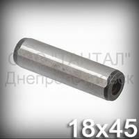 Штифт 18х45 DIN 7979D, ISO 8733 цилиндрический с резьбой закалённый шлифованый