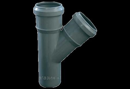 Трійник 50х50/45º ПП Європласт для внутрішньої каналізації сірий