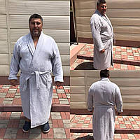 Мужской махровый халат размер 5XL. Батал