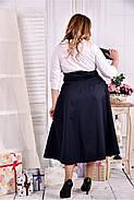 Женское платье макси 0559 цвет синее-белое размер 42-74 / больших размеров , фото 2