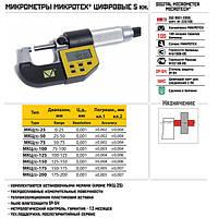 Микрометр гладкий цифровой МКЦ(5)-50-0,001 кл.2 пятикнопочный (Микротех®)