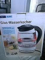 Стеклянный электрический чайник с подсветкой и выбором температуры ideen welt из Германии