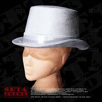 Шляпа белый Цилиндр карнавальная