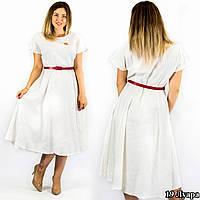 """Белое платье """"Луара"""", большого размера"""
