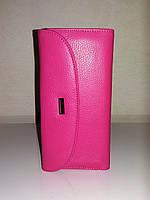 """Женский кожаный кошелек """"ALPE"""" розовый"""