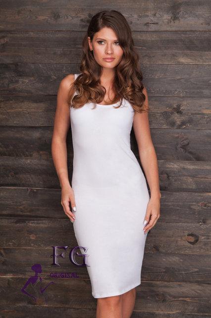 cf23604b685 Платье-майка миди белое  продажа