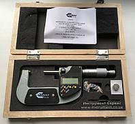 Микрометр гладкий цифровой МКЦ- 50 (25-50) 0,001 GRIFF