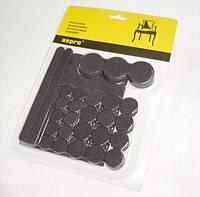 Противоскользящие подкладки для мебели самоклеящиеся (чёрные).