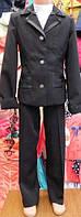 Костюм школьный  для девочки:пиджак и брюки ,размеры 30-40,возраст 5-10 лет S955