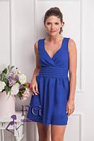Нарядное женское платье синее