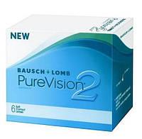 Контактные линзы на месяц для глаз Pure Vision 2 (6 шт) в упаковке