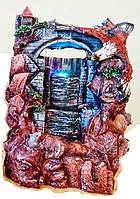 Фонтан декоративный комнатный Водопад Дождь Орел (Кондор) парит над крепостью 8018 Размер 28=16=15