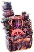 Фонтан декоративный комнатный Водопад Дождь 2-а потока 5-ть горшков мельница 1094 Размер 30=16=15