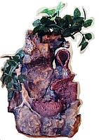 Фонтан декоративный комнатный подвесной Водопад Дерево и три горшка м003 (802) Размер 30=24=16 исскуственная зелень