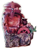 Фонтан декоративный комнатный Водопад Мельница ветряная и водяная 0076 Размер 29=18=15