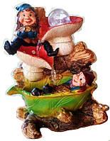 Фонтан декоративный комнатный Гномы золотоискатели на грибах 19-5 Размер 27=18=15 cm