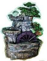 Фонтан  с Большой мельницей декоративный комнатный настольный садовый домашний 43 см  567